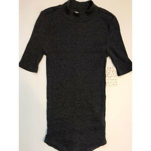 Free People We The Free NWT Ribbed Black T-Shirt